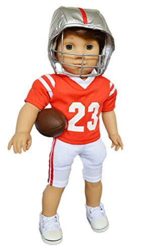 American Football Accessories (My Brittany's Ohio State Football Uniform for American Girl Boy Dolls- Logan Doll is not included)