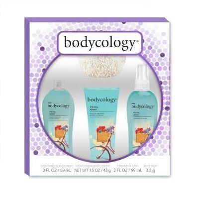 Bodycology Petal Away Gift Set With Pouf (Away Gift Set)