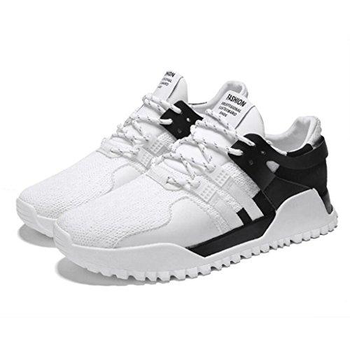 de à Skate Lacets Appartements Chaussures Chaussures Mode Plein En Gym Respirant Casual Course De black Chaussures Air Sneakers Pompes Marcher White Hommes GAOLIXIA Trainer awqOxP6Cnt