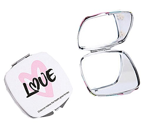 Princess Cheval Mirror - Blancho Bedding One Portable Princess Mirror Vanity Mirror Little Makeup Mirror 6.5x6.5x1CM (Love)
