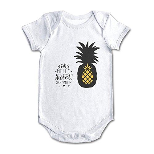 Summer Pineapple Dawn Nicole Designs Cool Design Baby Girl Boy Onesies White ()