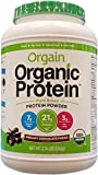 Orgain Organic Plant-Based Protein Powder, Creamy Chocolate Fudge,...
