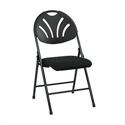 Office Star FC Series Set of 4 Plastic Folding Chair in B...