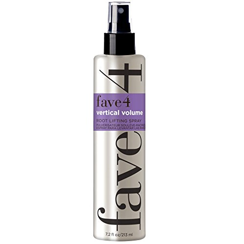 fave4 Vertical Volume Root Lifting Spray - Big Volume at The Roots for All Day Fullness - Safe for Color Treated Hair and Sulfate, Paraben, Gluten, Alcohol, and Cruelty-Free, Sunkissed Citra (7.2 oz)