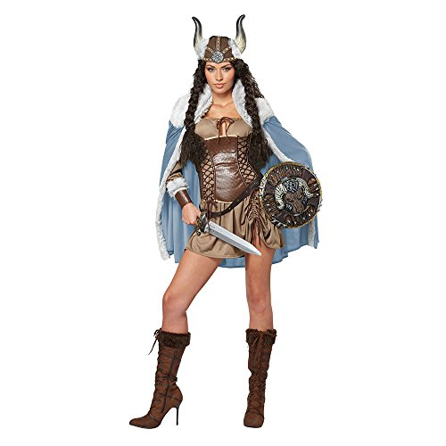 Sexy Viking Warrior Costumes (California Costumes Women's Viking Vixen Sexy Warrior Costume, Brown, Small)