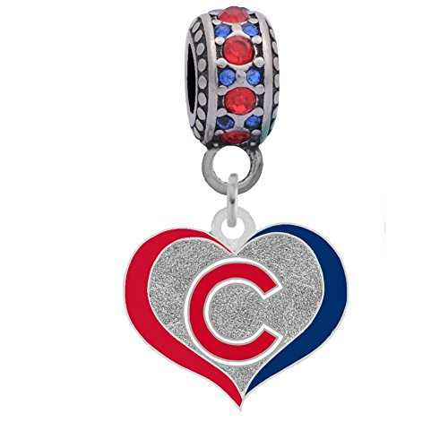 - Final Touch Gifts Chicago Cubs Swirl Heart Charm Fits Most Bracelet Lines Including Pandora, Chamilia, Troll, Biagi, Zable, Kera, Personality, Reflections, Silverado and More ...