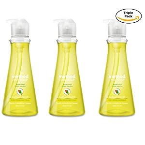 Method Products Pbc 01179 Dishwashing Liquid, Lemon Mint, 18-oz. (3)