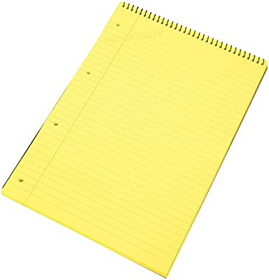 paquete de 5 4 orificios Ataladrado perforadas Premier Ejecutivo AMARILLO Legal Almohadilla 60gsm 50sheets