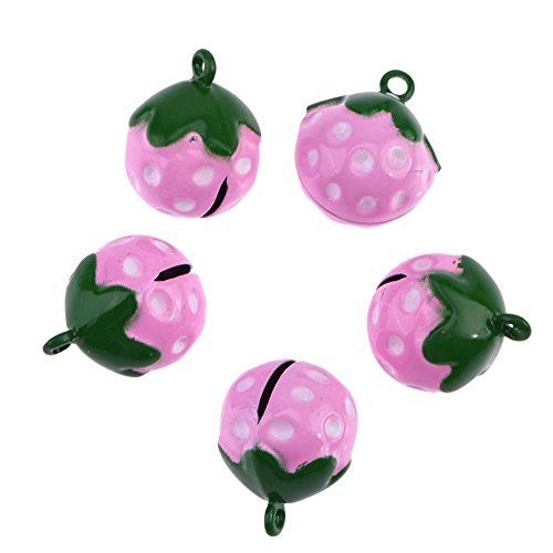 Jocestyle Pet Costume Accessories Dog Cat Small Bells Strawberry Crafts Necklace Pendant (Including (Strawberry Bell)
