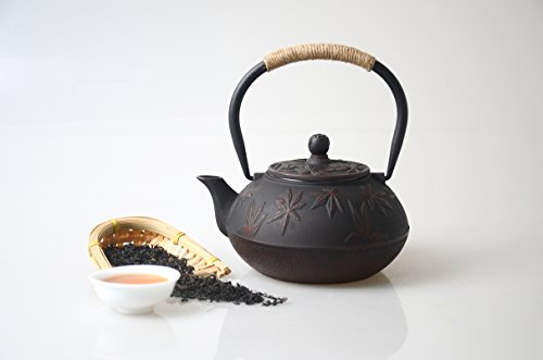 Hwagui Iron Bronze Teppe (design of autumn leaves) Add tea, refill iron, tea ceremony supplies, 0.8L【Made in Japan】 by Hwagui