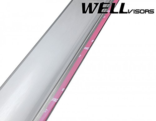 Replacement for 2006-2013 Land Rover Range Rover Clip-ON Chrome Trim Smoke Tinted Side Rain Guard Window Visors Deflectors 3-847LR004 by WellVisors (Image #7)