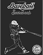 Baseball Scorebook: 180 Baseball Score Sheets  Size: 8.5 x11 inches 120 Pages  gift ideas for Coaches and Fans Track your Team  Log a Full Season plus Playoffs  Baseball Scorebook   Baseball Score Pads   Baseball Scorekeeping Book   Baseball Scorecard