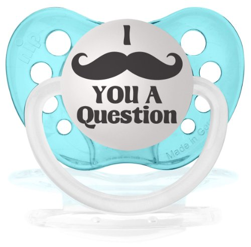 Personalized Pacifiers Mustache Question Clear