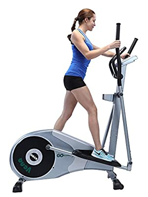 "GOELLIPTICAL V-200 Stand Stride 17"" Elliptical Exercise Cross Trainer Machine for Cardio Fitness Strength Conditioning Workout at Home or Gym"