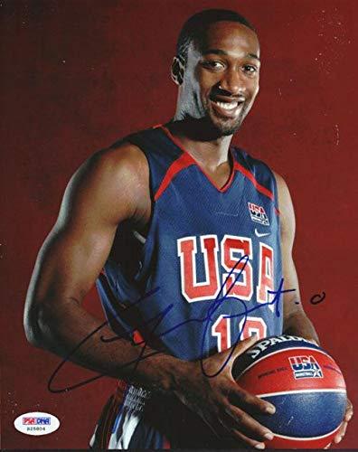 d50fb3f51286 Signed Gilbert Arenas Photo - 8x10 Team USA  S25804 - PSA DNA Certified -