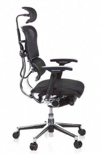 Ergohuman Bürostuhl mit Netz-Stoff, schwarz - 3