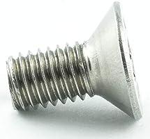 50 St/ück Edelstahl A2 V2A Gewindeschrauben T6 - DIN 965 Vollgewinde ISO 14581 Senkkopf Schrauben M2 x 12 mm Senkkopfschrauben mit Innensechsrund TX Eisenwaren2000 rostfrei