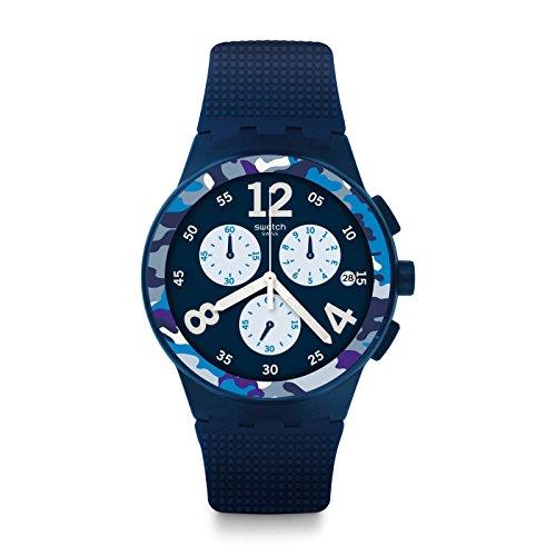 [Swatch] Swatch watch New Chrono Plastic (New Chrono Plastic) CAMOBLU (Kamoburu) Men's SUSN414 [regular imported goods] SUSN414 Men's [regular imported (Chrono Swatch Watch)