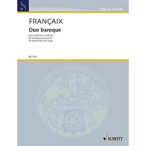 Duo Baroque Schott Series Composed by Jean Fran aix