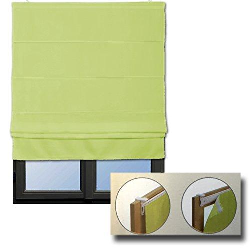 JEMIDI Raffrollo Klemmfix - Ohne Bohren anzubringen- Rollo Seitenzugrollo Jalousien Blickdicht zum Klemmen oder Bohren Klemmfix Grün 80cm x160cm