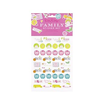 AmazonCom Lilly Pulitzer  Family Agenda Sticker Set