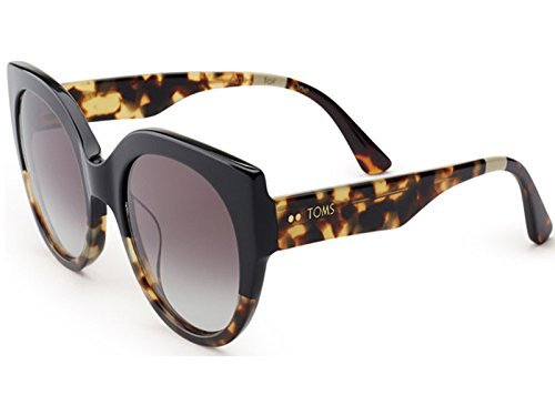 Toms Tom's Sunglasses 0010005467 Luisa Black Tortoise Fade 10005467