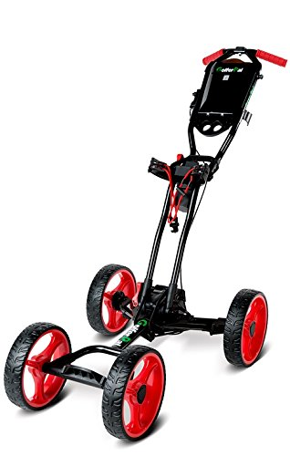 GolferPal EasyPal Electric Auto-Folding/Unfolding Golf Push Cart, Black