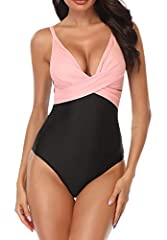 B2prity One Piece Swimsuits for WomenFeatures Description: Material:Polyamide + Elastane Gender:Swimsuits for Women Style: Monokini, Vintage, High Neck,Stretchy, Retro Bathing Suit Sizes: (S, M, L, XL/ OX)/US(4-6,8-10,12-14,16, 18)Size Chart ...