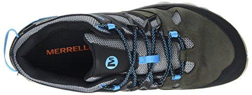 Merrell Out Blaze 2 GTX, Stivali da Escursionismo Uomo Grigio (Turbulence/Cyan)