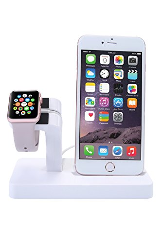 Apple Watch Charging Stand, iPhone Charger Station [iWatch Series 2 and All Smart Watch]