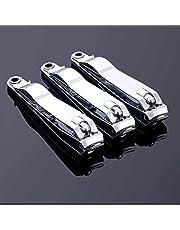 3 in 1 nagelknipper set, nagelpolijsters en oorprikkers Makkelijk mee te nemen en stevig voor dikke nagels Snijder Ingegroeide manicure, pedicure, heren en damesnail clipper(zilver)