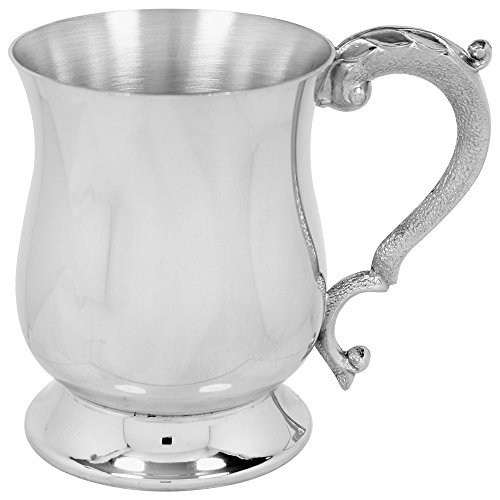 English Pewter Company 1 Pint Traditional Georgian Style Pewter Beer Mug Tankard - Sheffield Tankard Pewter