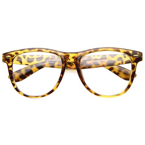 zeroUV - Retro Wide Temple Clear Lens Horn Rimmed Eyeglasses 54mm (Tortoise / - Wayfarer Parker Warby