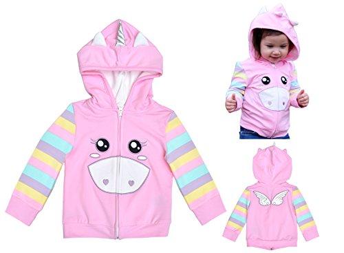 Mini Jiji Stretch Hoodie/Jacket for Baby Infant Toddler Kids (Unicorn (1 yr.), Unicorn) by Mini Jiji
