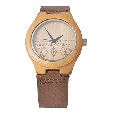 Souarts Womens Wood Color Band Round Dial Quartz Analog Wrist Watch 25cm