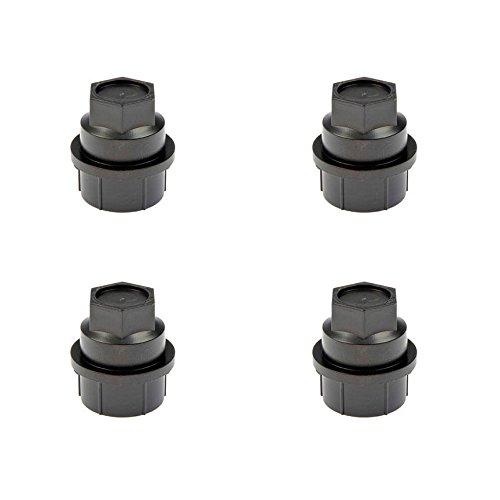 (Dorman 711-025 Black Wheel Nut Cover - M27-2.0, Pack of 4)