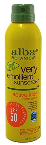 Alba Botanica Spf50 Sunscreen Kids 6 Ounce Clear Spray (177ml) (3 Pack)