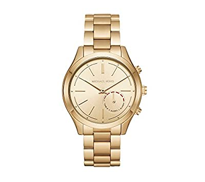 Michael Kors Women's 42mm Slim Runway Goldtone Hybrid Smart Watch by Michael Kors