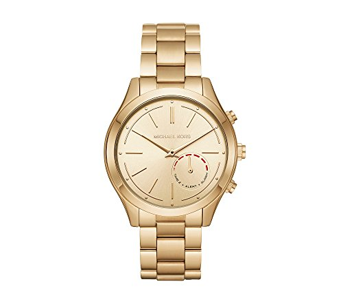 Michael Kors Women's 42mm Slim Runway Goldtone Hybrid Smart Watch