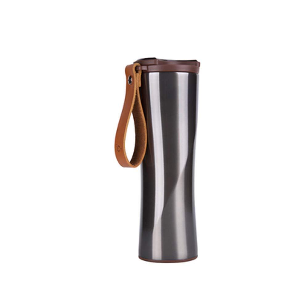 GZP Leichter Smart Edelstahl-Vakuum Isolierter Kaffee-Cup LCE Touch-Screen Wassertemperatur Display und Alarm-Reminder,F