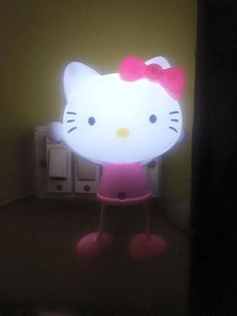 Buy DECORATIVE BUCKETSHELLO KITTY NIGHT LAMP AUTOMATIC SENSOR - Hello kitty lamps for bedroom