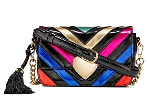 Secret Crossbody Stripe NWT Victoria's Clutch Python Rainbow Bag Purse dHqxBI