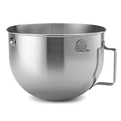 5124a7d6002c Image Unavailable. Image not available for. Color: KitchenAid 5 Quart  Polished Stainless Steel Mixing Bowl ...