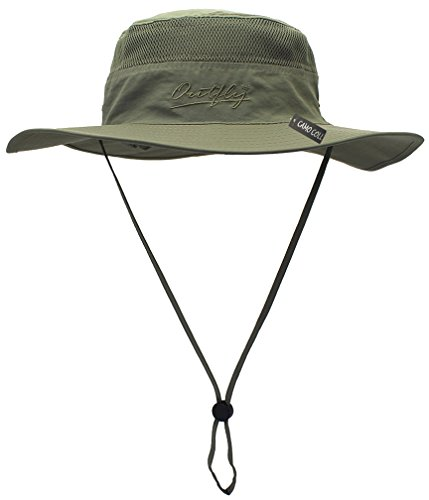 Camo Coll Outdoor UPF 50+ Boonie Hat Summer Sun Caps (One Size, Light Army Green)