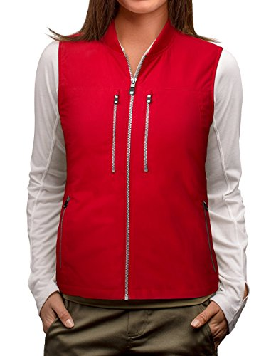 (SCOTTeVEST 101 Travel Vest for Women with Pockets - Lightweight Utility Vest RED M4 )