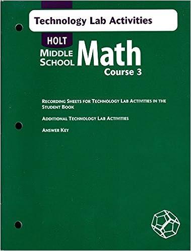 Holt Middle School Math Course 3 Technology Lab