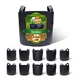 Gardzen 10-Pack 3 Gallons Grow Bags, Aeration