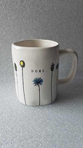Rae Dunn By Magenta HOME Collection Line Flower Mug (Magenta Home)