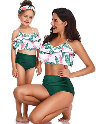 6df945438b Soinfun Family Matching Mother Girl Swimwear Bikini Swimsuit Set Two Piece Bathing  Suit (Mom
