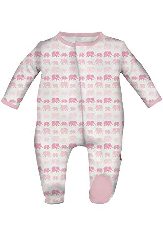 Magnificent Baby Baby Infant Magnetic Footie, Dancing Elephants Pink, ()